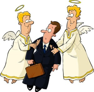 Businessman and angels