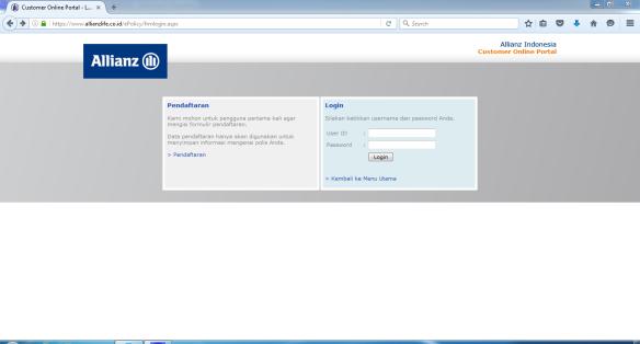 cust online portal
